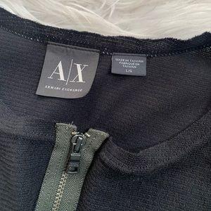 Armani Exchange Shirts - Armani Exchange zipped shirt